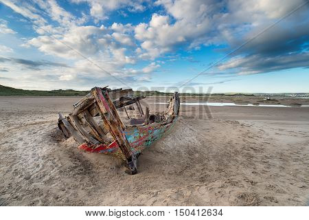 Old Wreck On The Beach