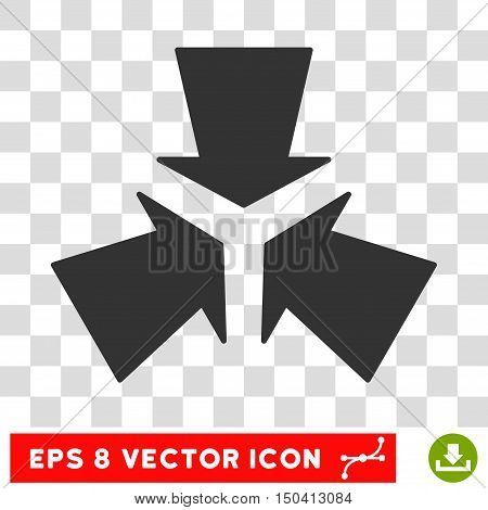 Shrink Arrows round icon. Vector EPS illustration style is flat iconic symbol, gray color, transparent background.