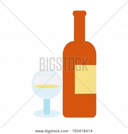 Alchohol flat icon. Illustration for web and mobile.