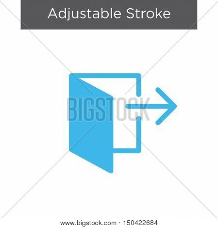 Logout or Exit Icon with Arrow and Door icon