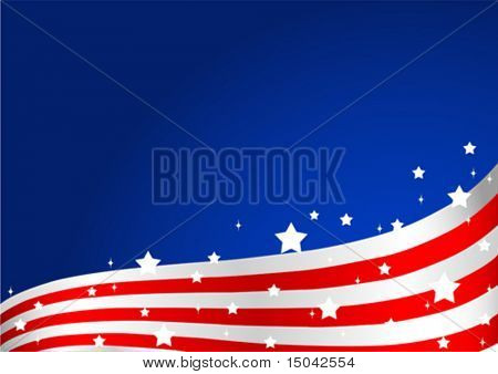 An American flag background