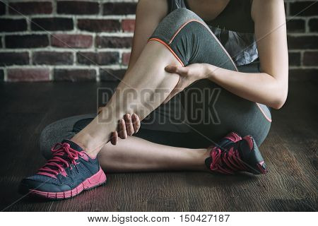 Have A Leg Cramp In Fitness Exercise Training, Healthy Lifestyle