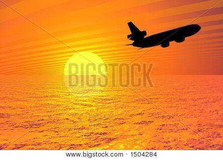 Sunset Plane Image