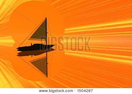 Sunset Ship