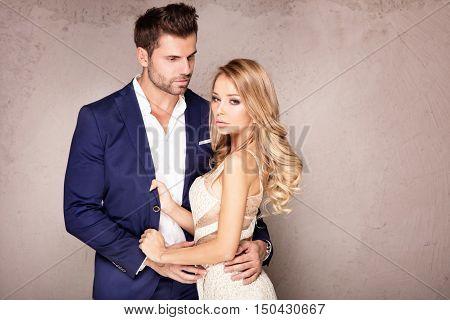 Elegant Couple Posing Together.