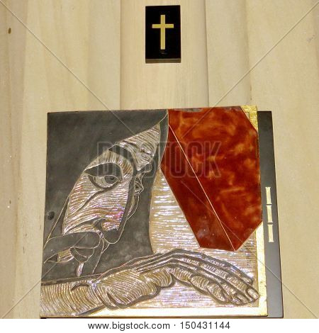 Toronto Canada - October 4 2016: Tablet of III row seats into St James Anglican Cathedral.