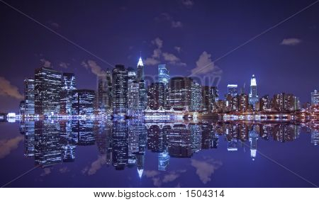 Lower Manhattan At Night