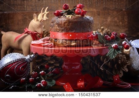 Festive Christmas Small Rich Fruit Cake