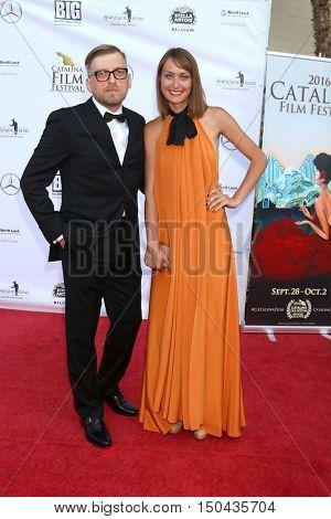 LOS ANGELES - OCT 1:  Vlad Aksenov, Elena Aksenova at the Catalina Film Festival - Saturday at the Casino on October 1, 2016 in Avalon, Catalina Island, CA