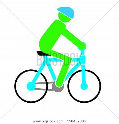 man is cycling in the vector format
