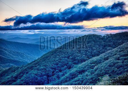 Blue Ridge Parkway summer Appalachian Mountains Sunrise