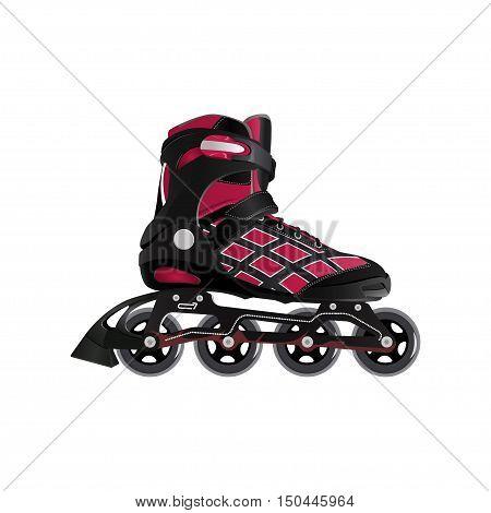 Roller skating. Roller skates vector illustration on a white background.