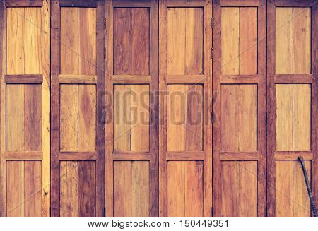 Wooden Window For Background Usage.
