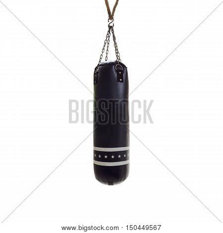 Sandbag for boxing isolated on white background.