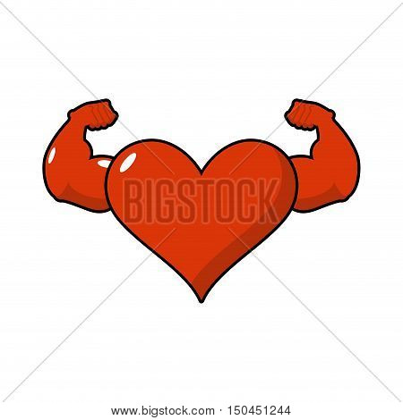 Strong Love Athlete. Powerful Heart Of Athlete. Big Hands Bodybuilding.