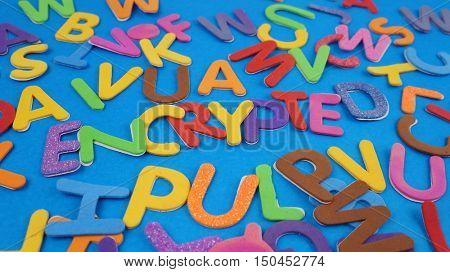 Encryption and other random alphabets