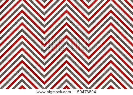 Watercolor Dark Red And Grey Stripes Background, Chevron.