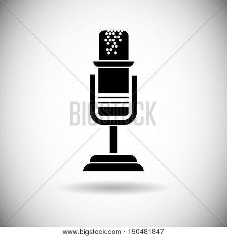 Microphone Modern Web Icon Flat Vector Illustration