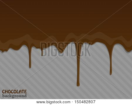Flowing chocolate drops. Vector illustration eps 10