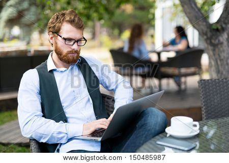 Author at work