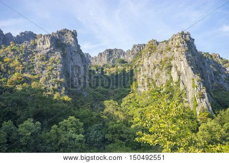 Big Mountain with blue sky in Thailand