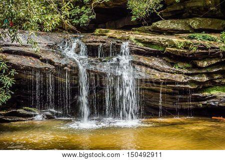 Scenic Views Along Hiking Trailat Table Rock Mountain South Carolina