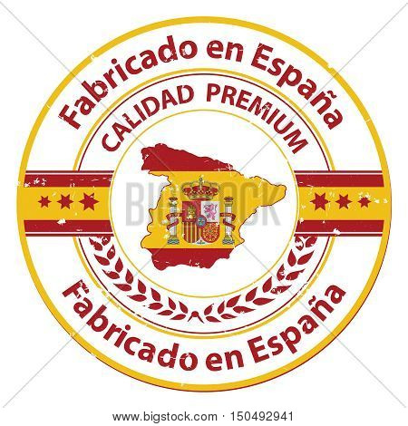 Map Of Spain To Label.Made Spain Premium Vector Photo Free Trial Bigstock