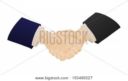 Two Shaking Hands Of Businessmen