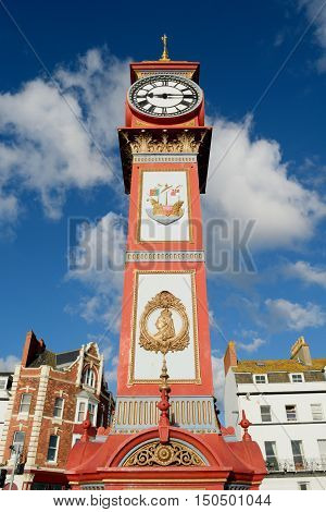 Queen Victoria's Jubilee Clock in Weymouth Dorset erected in 1887.