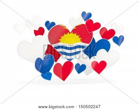 Flag Of Kiribati, Heart Shaped Stickers