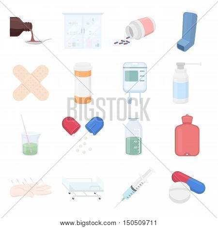 Medicine icons set. Vector collection of medicine equipment or medicine drug. Unique design of medicine, healthcare and hospital icons - stock vector