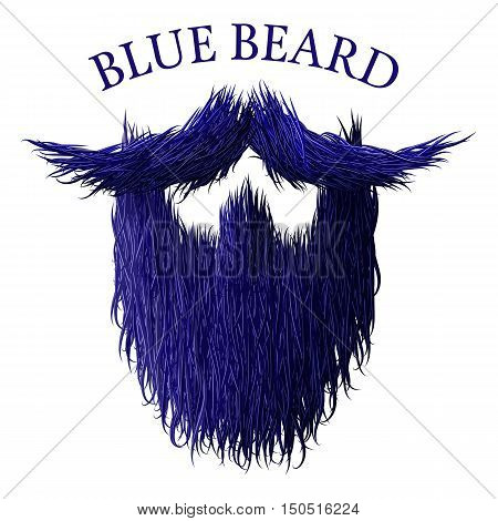 Blue beard classic jealous icon with detailed hair