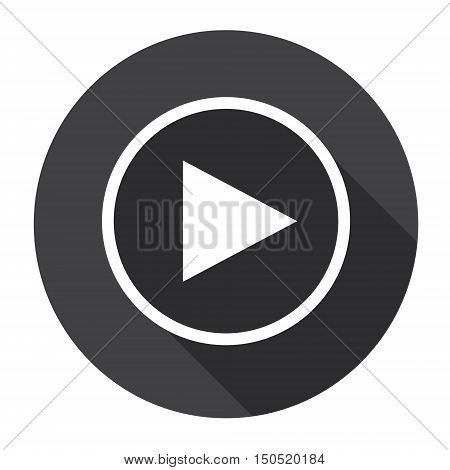 Video Player Interface Icon Button Flat Vector Illustration