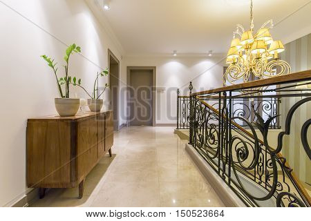 Metal Railing In A House