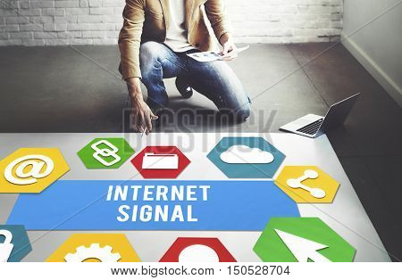 Internet Signal Hot spot Networking Concept