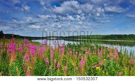 River Irtysh Omsk in Western Siberia, Russian Federation