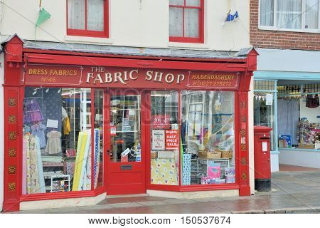 Whitstable United Kingdom - October 1 2016: Vintage Haberdashery shop