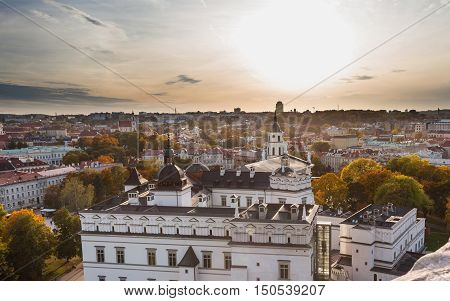 Palace of the grand dukes of Lithuania. View from Gediminas hill