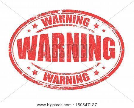 Warning Stamp Or Sign