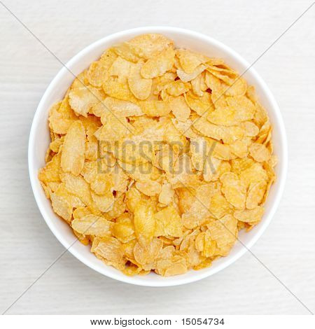 A bowl of corn flakes