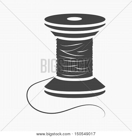 Spool of thread icon of rastr illustration for web and mobile design