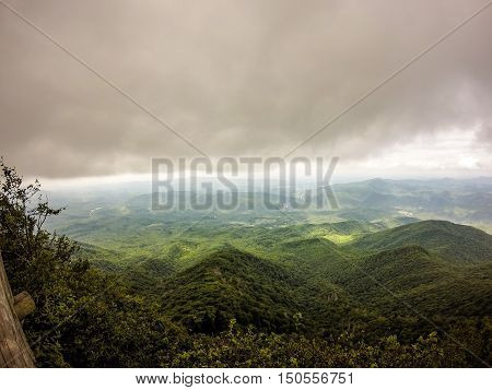 Scenes Along Appalachian Trail In Smoky Mountains North Carolina