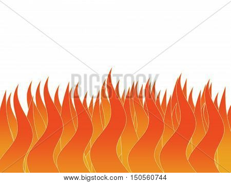 Tongues of the flame on a white background