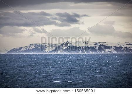 Northern Norway near Longyearbyen in Spitsbergen Svalbard