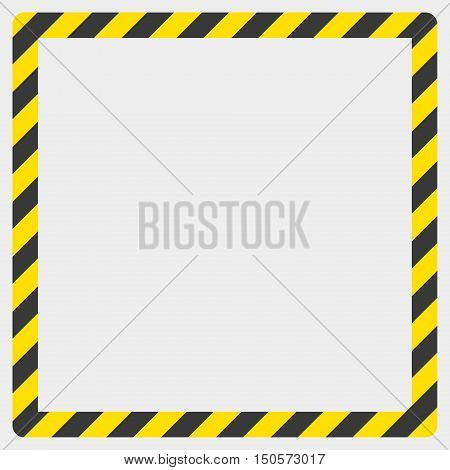 Construction warning border on a white background vector illustration.