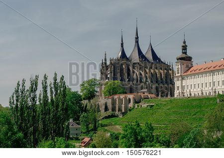Saint Barbara's Church And Jesuit College ( Jezujit Kolej) . Kutna Hora, Czech Republic.