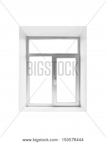 New Plastic Empty Window Isolated On White