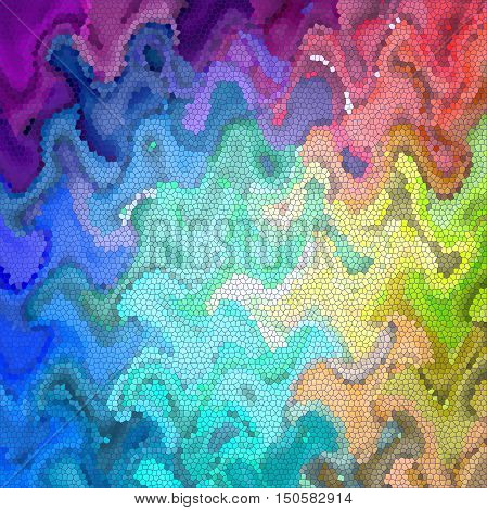 Abstract coloring background of the spectrum gradient with visual lighting, mosaic,wave and stained glass effects.Good for your project design
