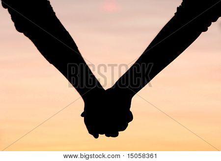Paar Hände