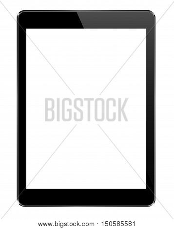 Mock Up Black Tablet Isolated On White  - Vector Design